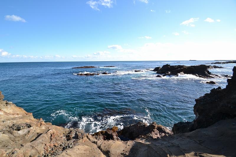 弁天島から太平洋