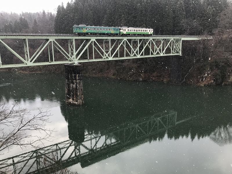 鉄橋の只見線