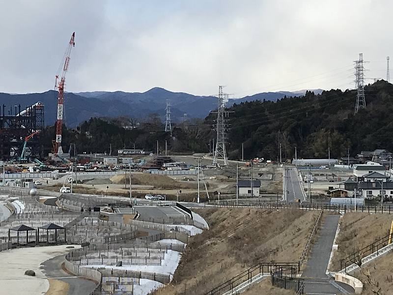 岩間町震災跡地