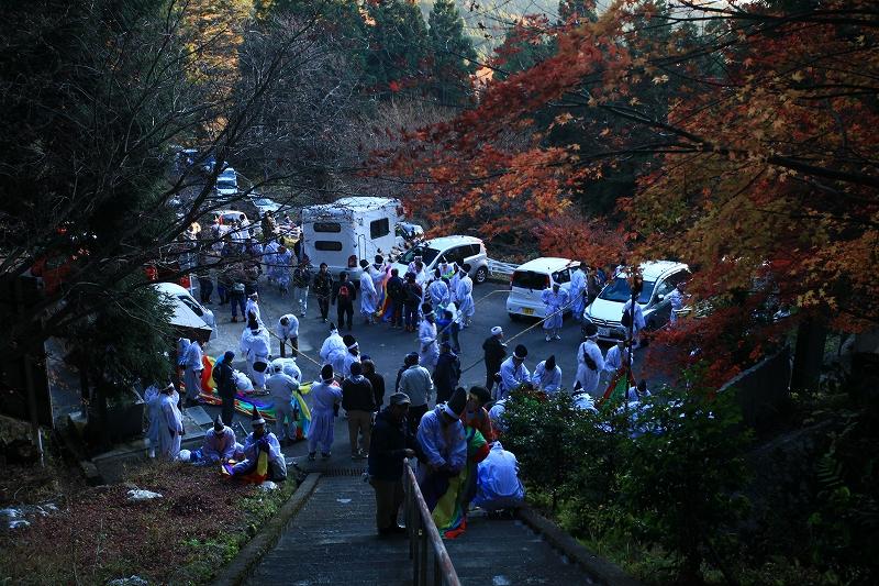 幡祭り帰り道の駐車場